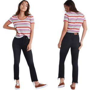 💥Sale💥 Madewell Cali Demi-Boot Chewed-Hem Jeans